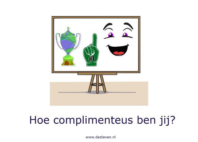 Complimenteus: geef je wel eens een compliment?