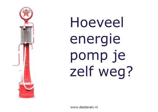 Energie weg pompen