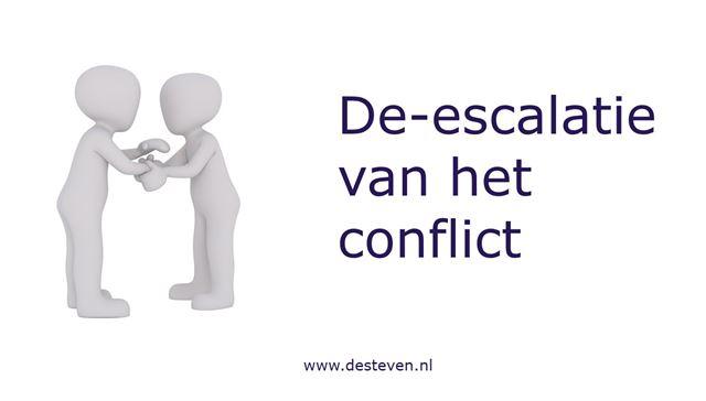 De-escaleren bij het conflict