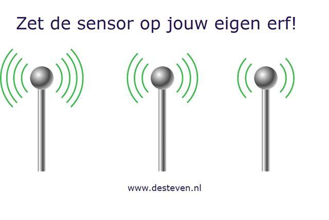 Sensor op eigen erf