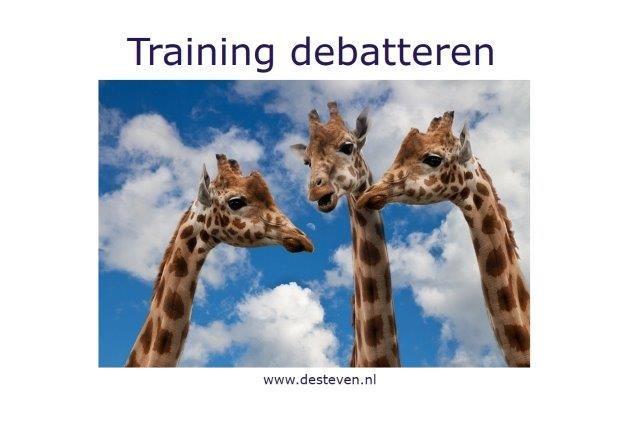 Training debatteren