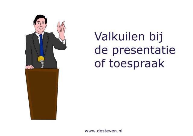 Valkuilen bij de toespraak of spreekbeurt