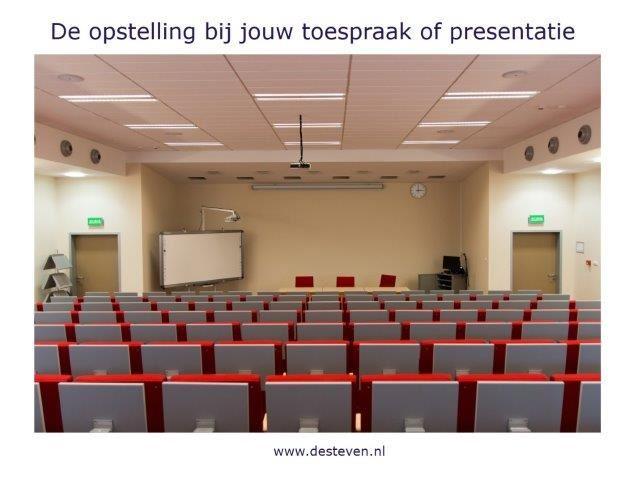Opstelling bij presentatie of toespraak