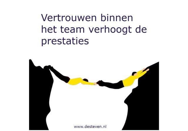 Vertrouwen binnen teams en organisaties