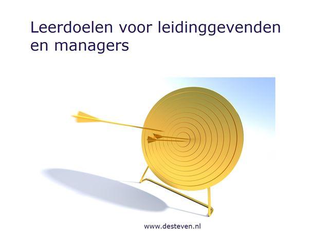Leerdoelen leidinggevenden en managers