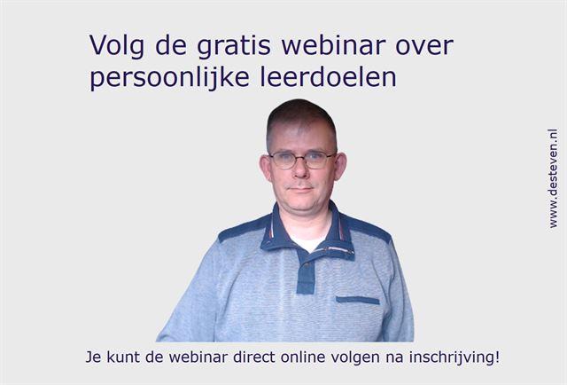 Webinar leerdoelen persoonlijk