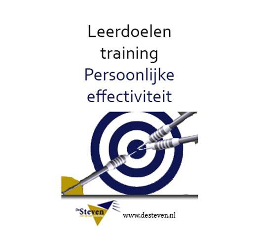 Leerdoel training persoonlijke effectiviteit