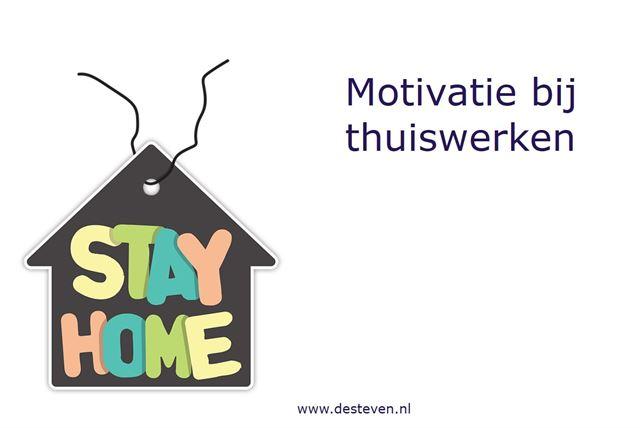 Motivatie bij thuiswerken