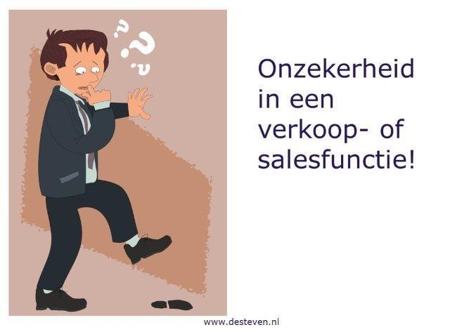 Onzekerheid sales en verkoopfuncties