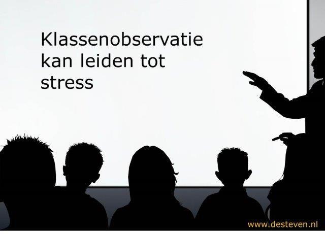 Klassenobservatie stress leerkracht