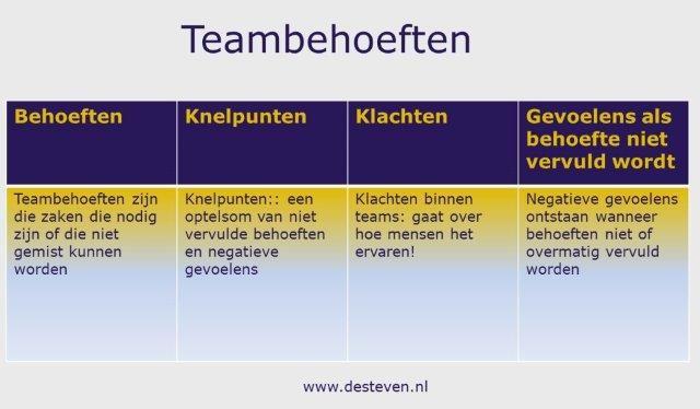 Teambehoeften