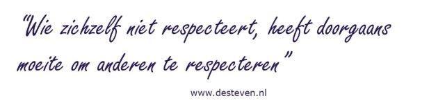 Respecteren van uzelf en anderen