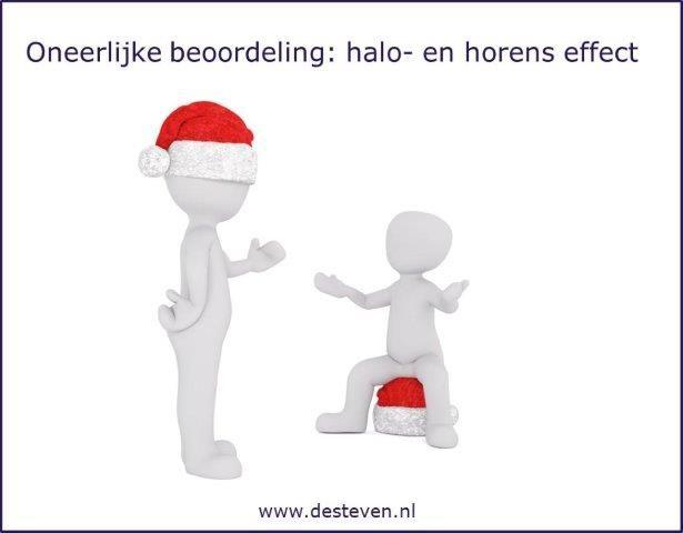 Oneerlijke beoordeling: halo en horens effect