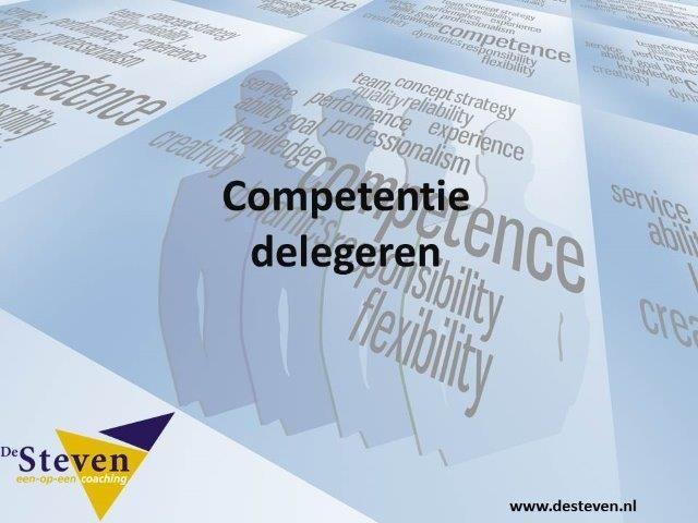 delegeren competentie