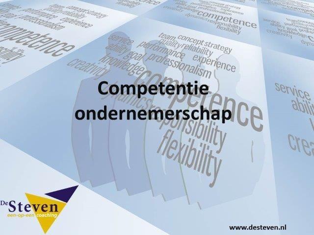ondernemerschap competentie