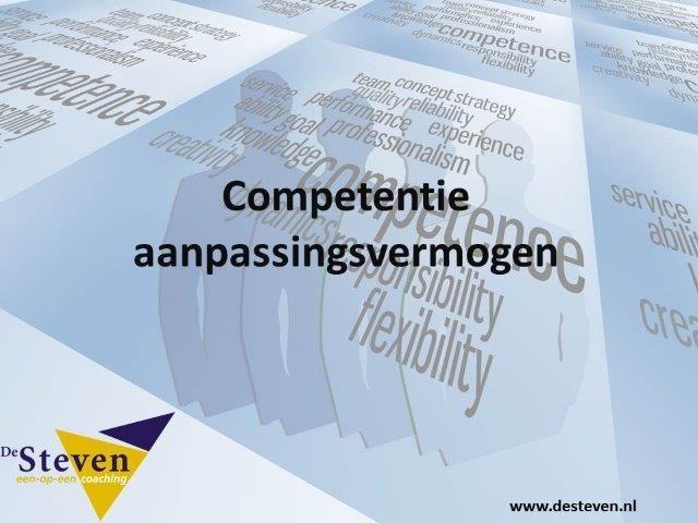 Aanpassingsvermogen competentie of kwaliteit