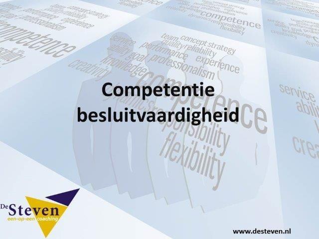 besluitvaardig competentie