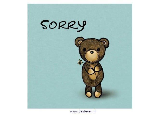 Verontschuldigen