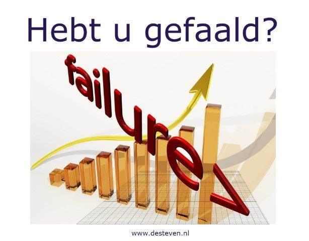 Gevoelens van gefaald en falen