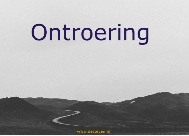 Ontroering of ontroerd