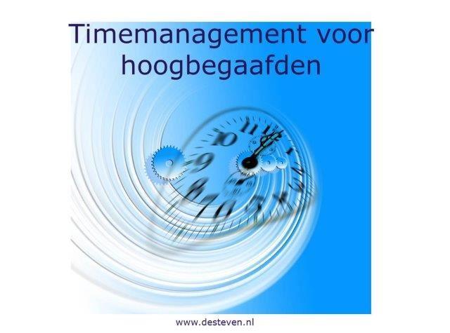 Timemanagement voor hoogbegaafden