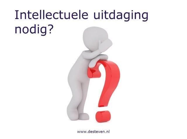 Intellectuele uitdaging nodig?