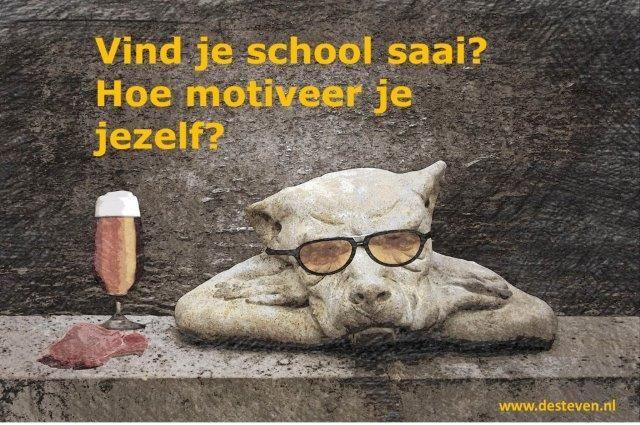 School saai: hoe motiveer je jezelf?