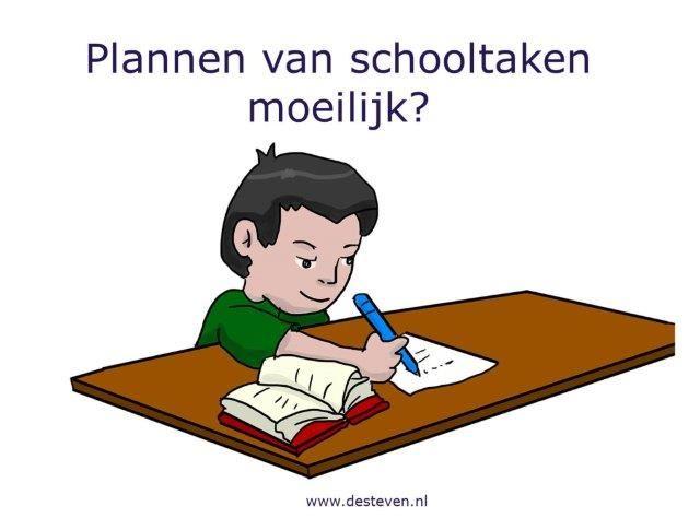 Plannen schooltaken en huiswerk
