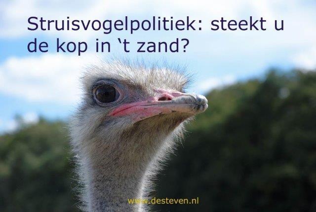 Struisvogelpolitiek: de kop in het zand steken