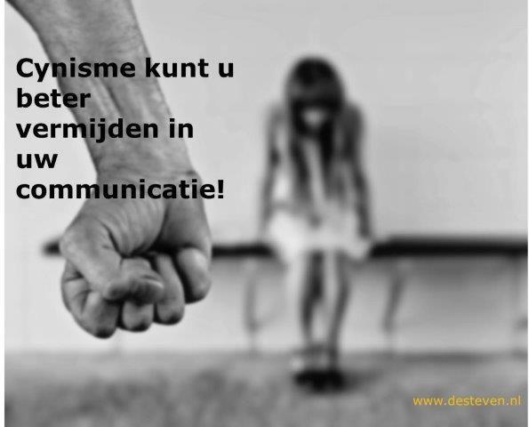 Cynisme vermijden in uw communicatie