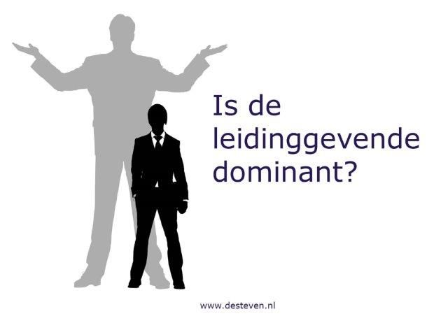 Leidinggevende is dominant of bazig