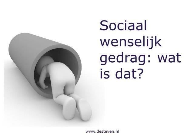 Sociaal wenselijk gedrag