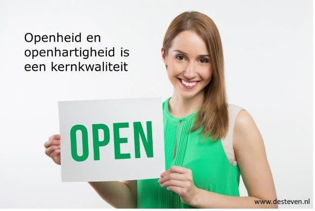 Open, openhartig en openheid