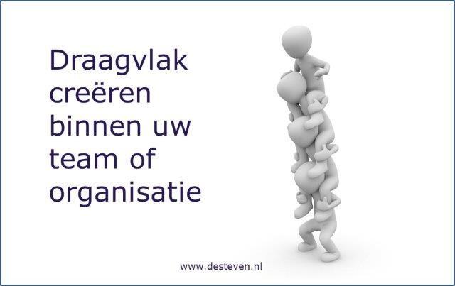 Draagvlak creëren team of organisatie
