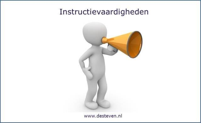 Instructievaardigheden: instructie geven en instrueren