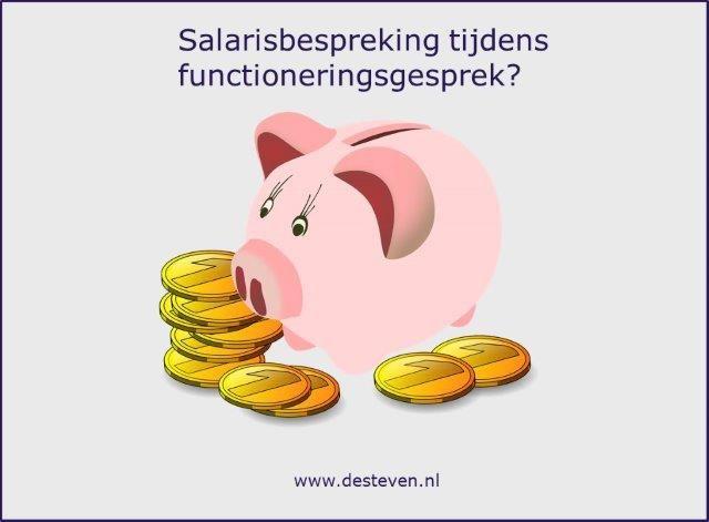 Salaris bespreking tijdens functioneringsprek?