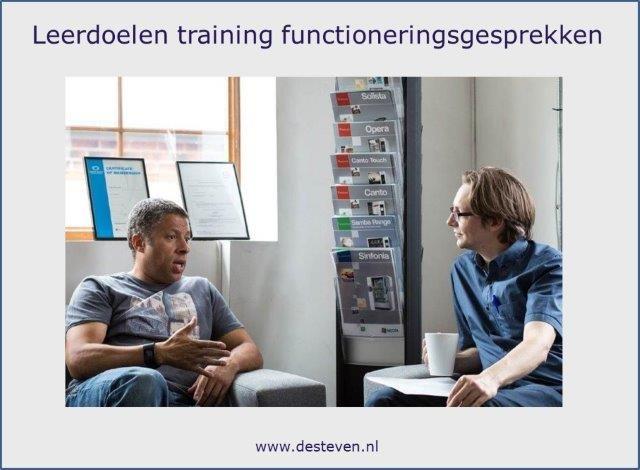 Leerdoelen training functioneringsgesprekken