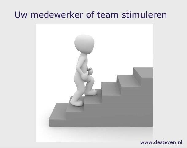 Stimuleren van medewerkers is motiverend