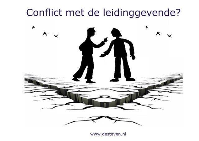 Conflict met de leidinggevende