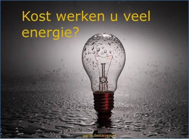 Werken kost energie?