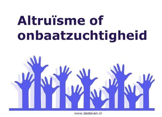 Altruïsme of onbaatzuchtigheid