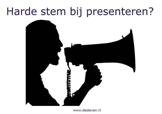 Harde stem bij presenteren