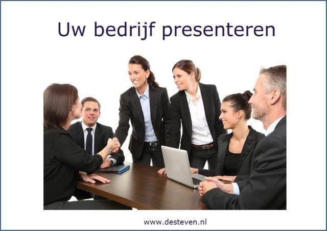 Bedrijfspresentatie: uw bedrijf presenteren