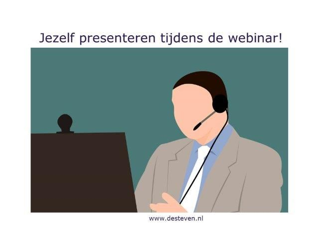 Webinar: zelfpresentatie