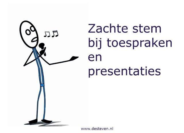 Zachte stem bij presentaties of toespraken