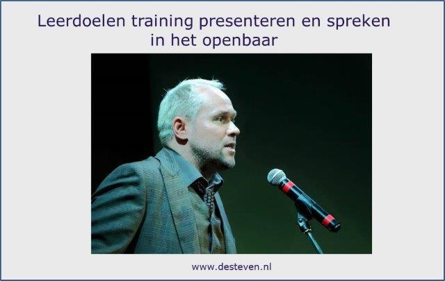 Leerdoelen training presenteren en spreken in het openbaar