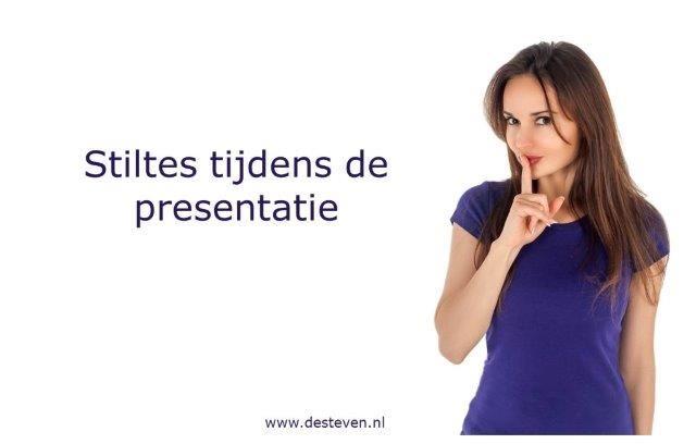 Stilte tijdens de presentatie