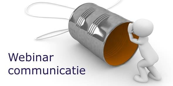 Webinar communicatie