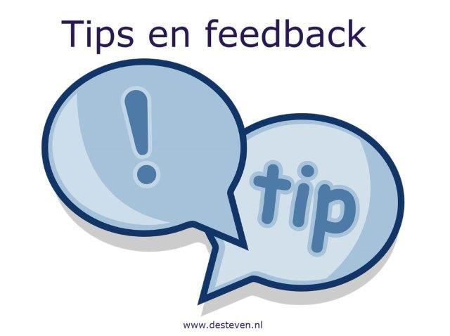 Tips bij feedback