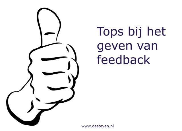 Tops bij feedback